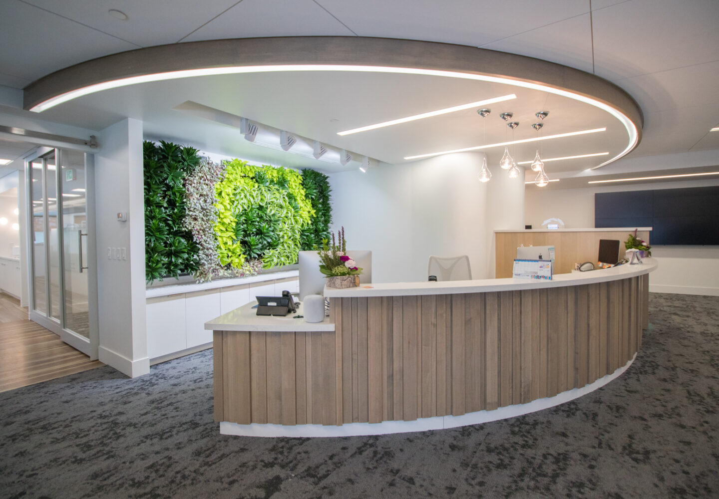 Photo showing the reception area at Oasis Orthodontics